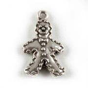Gingerbread Man Sterling Silver Charms